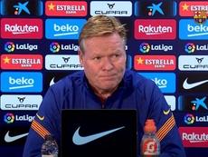 Koeman habló en rueda de prensa. Captura/BarçaTV