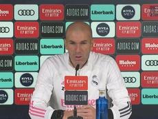 Zidane en conférence de presse. Captura/RealMadridTV