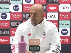 Zinedine Zidane falou sobre o caso envolvendo Benzema e Vinicius Jr. RealMadridTV/Arquivo