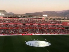 Granada se volcó en su vuelta a Primera. Captura/GranadaCFWeb