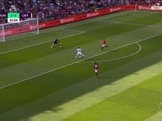El United tenía el 80% de posesión... pero Ayew apareció para marcar. Captura/RMCSport