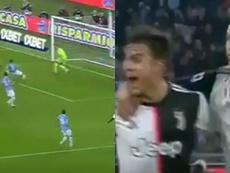 Más CR7 que nunca: Dybala le regaló a Cristiano su séptimo gol. Captura/Movistar