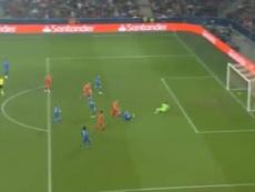 Premier match en Champions League, et premier but au bout de 2 minutes. Captura/beINSports