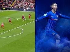 Chelsea remercie Hazard : élu plus beau but de la saison. Twitter/ChelseaFC