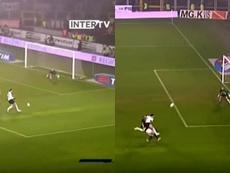 El día que el Torino encajó un gol de Ibra 'a lo Ibra'. Captura/InterTV