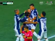 El capitán Sánchez adelantó en Monterrey y alcanzó una marca redonda. Captura/TUDN