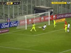 Pellistri, tanteado por City o Lyon, se estrenó en Libertadores con 18 años. Captura/SporTV