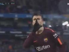 El gesto de Piqué sigue trayendo cola... Captura/beINSports