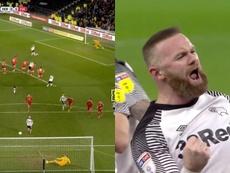 'Panenka' para hacer historia en Inglaterra: la genialidad de Rooney. Captura/SkySports/DAZN