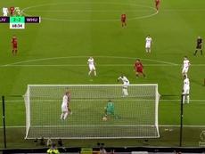 Salah anotó el 2-2. Twitter/DAZN_ES