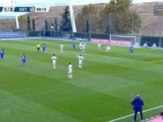 Julio Gracia anotó el tanto de la victoria en el minuto 89. Captura/RealMadridTV