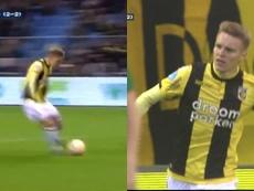 El Vitesse salió como un tiro y Odegaard abrió la lata. Captura/FoxSports