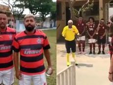 El equipo 'fake' y surrealista de Flamengo tiene a 'Gabigordo' de capitán. Instagram/Gabigoldatorcid