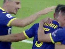 El Hellas Verona triunfó. Captura/beINSports