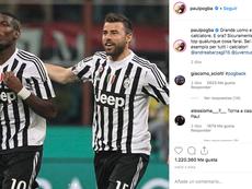 Pogba a fait ses adieux à Barzagli sur les réseaux sociaux. Instagram/PaulPogba