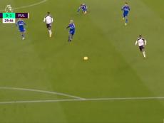 El Fulham le ganó al Leicester. Captura/DAZN