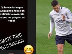 Zárate y Andrada se toman con humor los rumores sobre su pelea. Instagram/BocaJuniors
