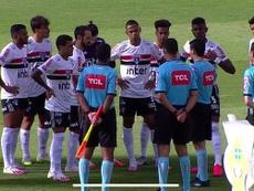Suspenden el Goiás-Sao Paulo tras varios positivos por COVID-19. Captura