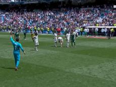 Navas despediu-se do Santiago Bernabéu e dos seus adeptos. Captura/beINSports