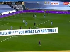 Dembélé insultó a los árbitros en el Real Sociedad-Barça. Captura/lequipedestelle