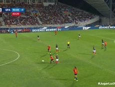 Francia gana; España gusta pero no acierta. Captura/SeFutbol