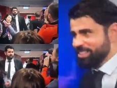 La blague moyenne de Diego Costa sur le coronarivus. Captura/MEGA