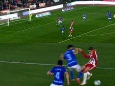El polémico penalti señalado a Arribas, que explotó tras el partido. Captura/LaLigaTV