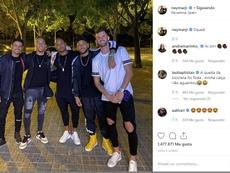 Neymar, avec Arthur avant son procès contre le Barça