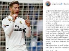 Ramos, fier de ses scores. Instagram/Sergio Ramos
