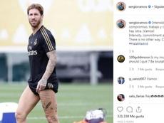 Ramos remotive ses troupes. Capture/SergioRamos