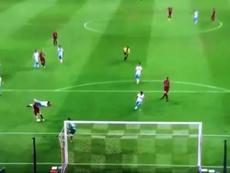 Iniesta found the net in fine fashion. Screenshot/Tomopanman5