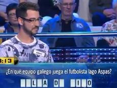 The contestant thought that Aspas played for Pulga de Vigo. Captura/A3