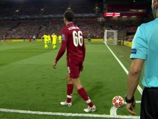 Alexander-Arnold spoke about his historic corner v Barca. Captura/Movistar