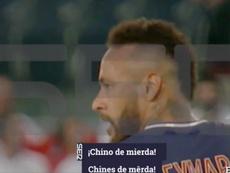 Filtran el vídeo en el que Neymar habría insultado a Sakai.Twitter/CadenaSER