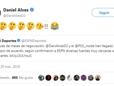 Dani Alves accuse ESPN de mentir. Capture/DaniAlves
