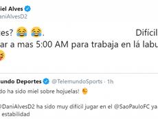 Dani Alves lo ha vuelto a hacer: ¡es el rey del troleo! Captura/Twitter