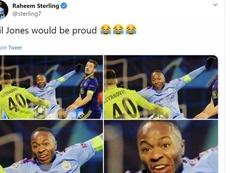 Sterling es el rey del troleo y Jones fue su última víctima. Twitter/sterling7