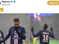 Naymar mandou torcida calar após marca. Twitter/neymarjr