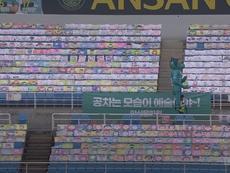 Genial iniciativa del Ansan FC para paliar el vacío de los estadios. Dugout