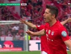 Le but de Lewandowski qui rapproche le Bayern du doublé. Movistar+