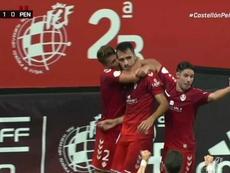 Cubillas, con su gol, dio el pase al Castellón. Captura/Footters