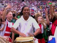 Ronaldinho marcou presença na Rússia. DirectTVSports