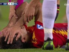 Oyarzabal se lesionó al poco de comenzar el segundo tiempo. Cuatro
