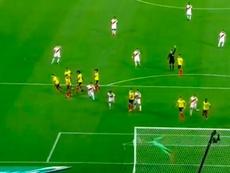 Un año del gol de Paolo Guerrero a Colombia. Captura