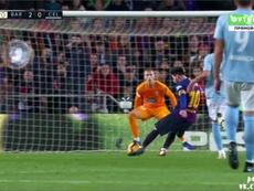 Messi reste zen face à Rubén. Futbol3