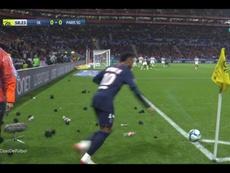 La actitud de los aficionados podría costar cara al Lyon. Captura/#Vamos