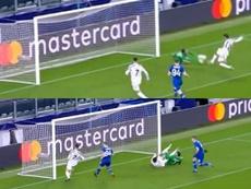 Ronaldo marcó un gol que era de Morata. Captura/Movistar+