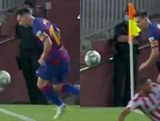 Il fantastico dribbling di Messi. MovistarFutbol