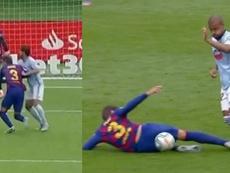 Pique was involved in two controversial incidents v Celta Vigo. Capturas/MovistarLaLiga