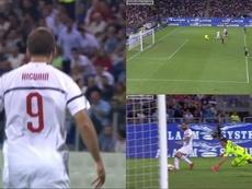 Higuaín empatou a partida. beINSports